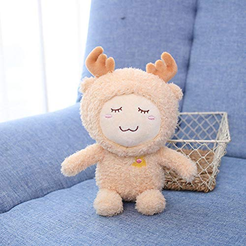 YLBHD Cute Cartoon Plush Toy 18Cm Sleep Toy Cute Forest Animal Elk Monkey Bear Rabbit Plush Toy Niños S Day Gift para niños