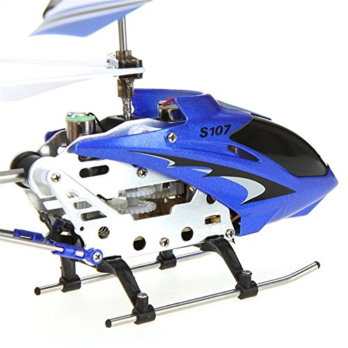 YSILE Syma 2nd Edition S107 S107G New Version Indoor Helicopterr (Blue)