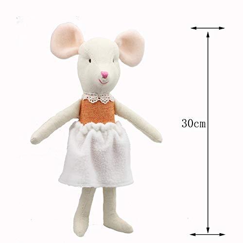 YXYL Suave Felpa Muñeca Peluche 30cm Ratón Juguetes para niños Peluche de Peluche Animal Lindo Ratón Pérez Juguete de Dibujos Animados Peluches Dormir Regalo para niños