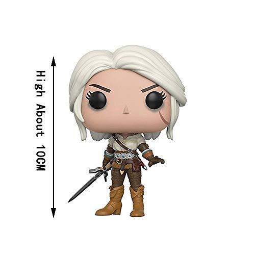 YYQIANG Witcher 3: Geralt de Rivia Cirilla Figura de acción del Juego Figma Acerca de 3,93 Pulgadas Pop Juguete (Color : A)