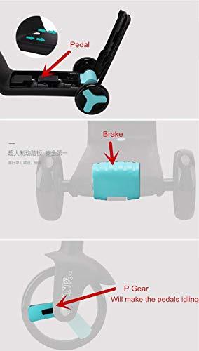 Z-SEAT Scooter de 3 Ruedas 2-in -1 Asiento Desmontable Reversible para Micro Scooter y Bicicleta de Equilibrio y Manillar Ajustable, para Que los niños monten en