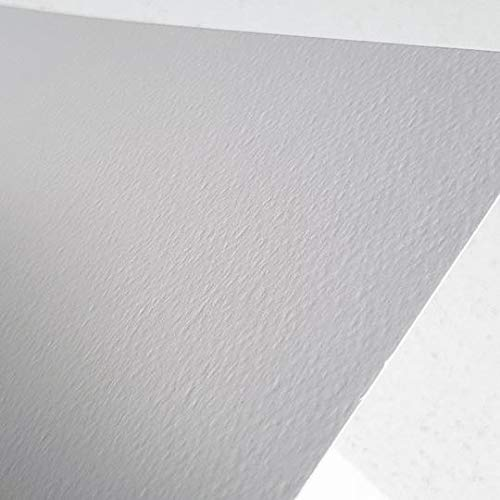 Zieler® - Papel de acuarela texturizado de grano fino, 300 g/m², 12 hojas, ideal para remojar y enmascarar Fabricado en Reino Unido., color blanco crema A4