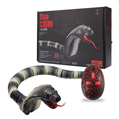 ZMH Control Remoto Serpiente 45CM RC Cobra Serpiente Juguete Largo Recargable Control Remoto RC Serpiente Simulación Juguete Realista para Niños Juegan Juguetes para Niños