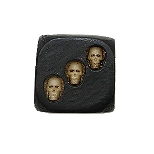 ZN Dados De Calavera De Resina Dados De 5 Piezas Dados De Calavera De Muerte Juego De Fiesta De Sonrisa Negra 18 * 18 * 18 Mm Dados De Esqueleto De Resina Resina (Negro)