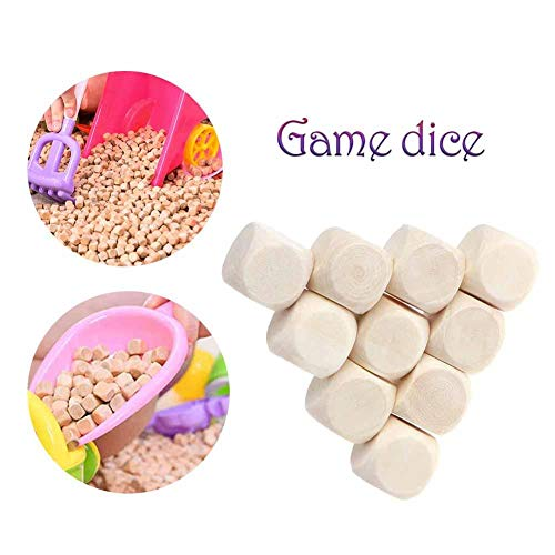 ZSLGOGO Dados en Blanco de Madera Seis Caras Juegos de Juego para niños Patrón de Grabado Grabado de Juguete 20PCS