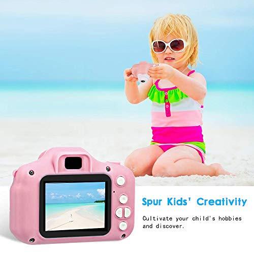 """ZStarlite Cámara Digital para Niños, 1080P 2.0""""HD Selfie Video Cámara Infantil, Regalos Ideales para Niños Niñas de 3-10 Años, con Tarjeta TF 32 GB, Lector de Tarjetas (Rosa)"""