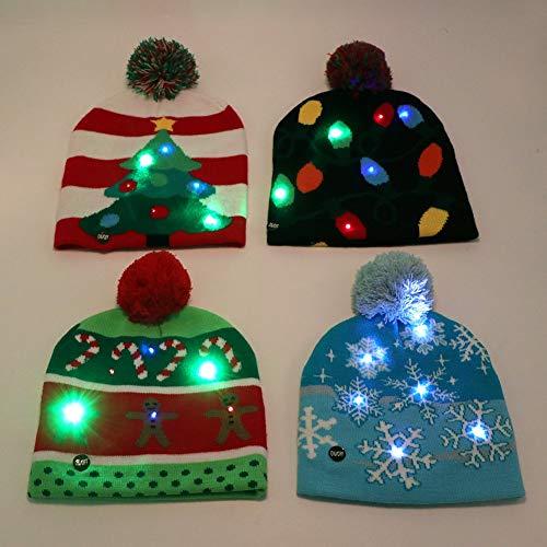 ZZTHJ Sombreros De Santa De Navidad para Niños Y Adultos Suministros para Fiestas Navideñas Invierno,Elkhead