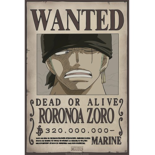 ABYstyle ABYDCO426 Abysse Corp_ABYDCO426 - Cartera 9 Carteles Wanted Luffy's Crew (21X29, 7) X5, Multicolor