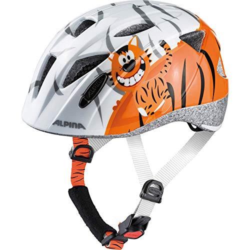 ALPINA XIMO Casco de Ciclismo, Unisex-Youth, White Little Tiger, 47-51