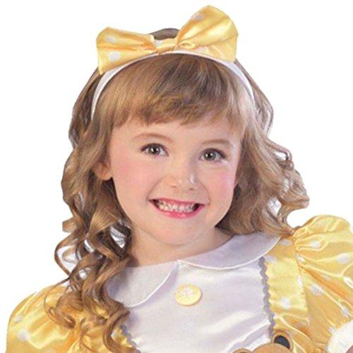 amscan-Shiny Costume with Bow Headband-Age Years-1 PC Brillante Goldilocks Disfraz con Lazo para la Cabeza – Edad 9-10 años – 1 Unidad, (9903223)