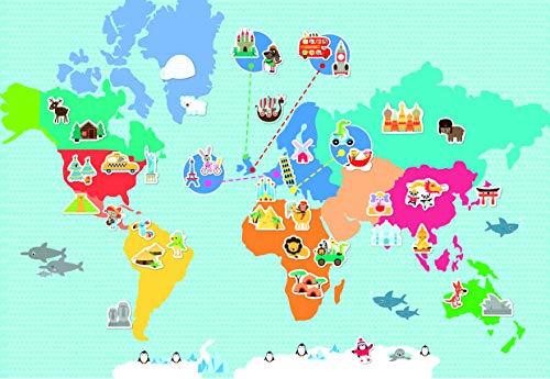 APLI Kids - Juego magnético mapamundi