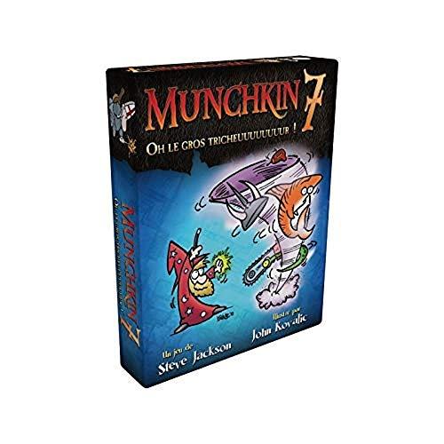 Asmodee, UBIMU07, Juegos de Cartas, Munchkin 7, Oh Le Gros tricheuuuuuuuur! (Idioma español no garantizado)