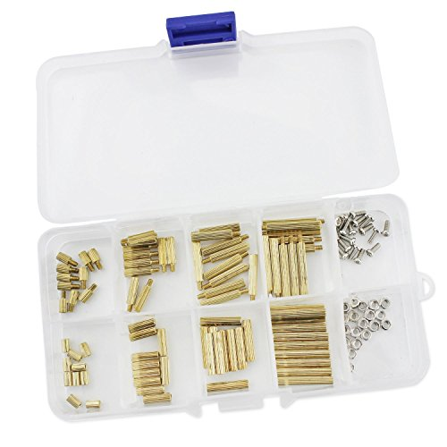 Aussel 120pcs M2 brass Spacer Standoff nut Assortment Kit by Aussel