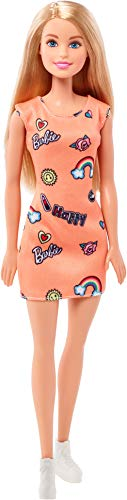 Barbie Fashionista, Muñeca Chic look naranja, juguete +7 años (Mattel FJF14) , color/modelo surtido