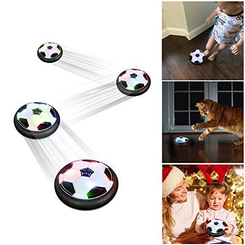 Baztoy Air Hover Football Ball Toy Juguete Balón de Fútbol Flotante, Pelota con Suspensión de Aire y Luces LED para Jugar Fútbol en Casa sin Riesgo a Romper Nada