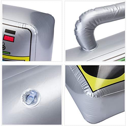 """Beelittle 16 """"/ 20"""" Party Inflatable Boom Box PVC Radio Accesorios inflables 80s 90s Decoraciones de Fiesta con Bomba de inflado de Aire (3 tamaño pequeño)"""