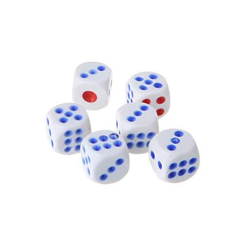 Besttse - Juego de 6 dados mágicos de plástico para fiestas, juegos de mesa y truco mágico