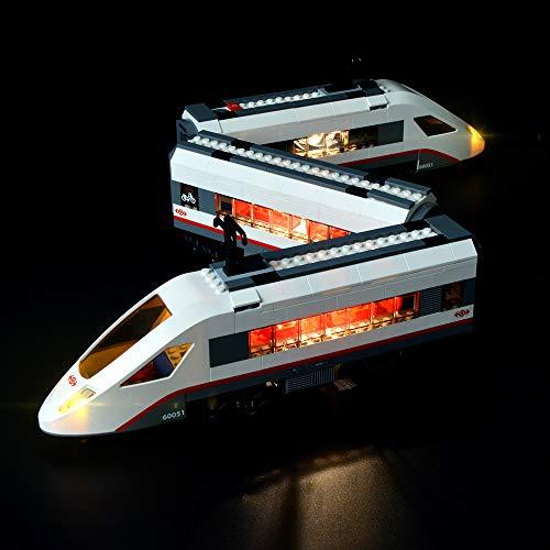 BRIKSMAX Kit de Iluminación Led para Tren De Pasajeros De Alta Velocidad -Compatible con Ladrillos de Construcción Lego Modelo 60051 -Juego de Legos no Incluido