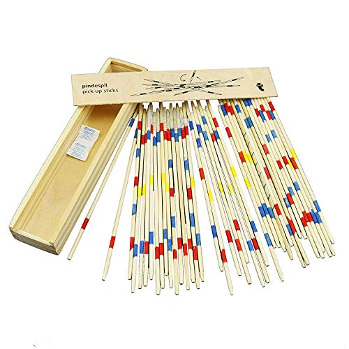 BSA Mikado Juego de Mesa con Caja de Madera Sticks 17.5 cm Estrategia Palillos Palitos Chinos