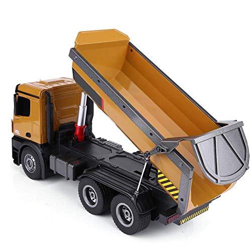 Camión radio control volquete profesional caja abatible HUINA 1573 2.4G escala 1:14 con 2 baterías Con luces LED y sonidos / camión rc teledirigido / Ideal usar junto excavadora 1583 o 1580