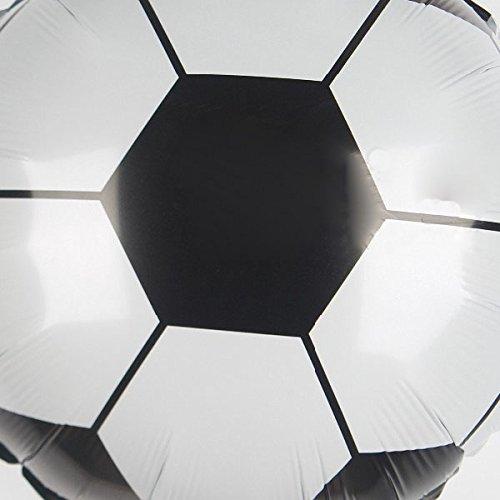 Cikuso 10 Piezas de Globos de Papel de Aluminio de Futbol de 18 Pulgadas de Copa Mundial para ninos Fiesta de Cumpleanos