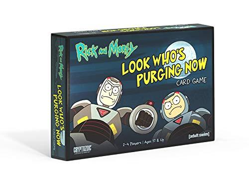 Cryptozoic Entertainment CZE27732 Rick and Morty Look Who's Purging Now Juego de Cartas, Colores Variados