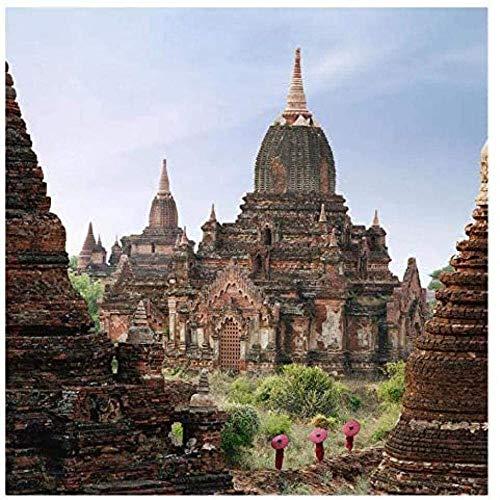 DFRTY Juego de Rompecabezas para Adultos con 1000 monjes Caminando por el Templo, desafío Mental, Tema de Rompecabezas para niños, combinación de Rompecabezas Familiar