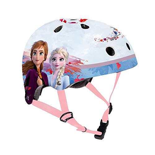 Disney Frozen II Casco de Bicicleta Nut Niño – El Secreto de Arendes Frozen 2 Casco de protección para niños, Talla Ajustable 53-55 cm