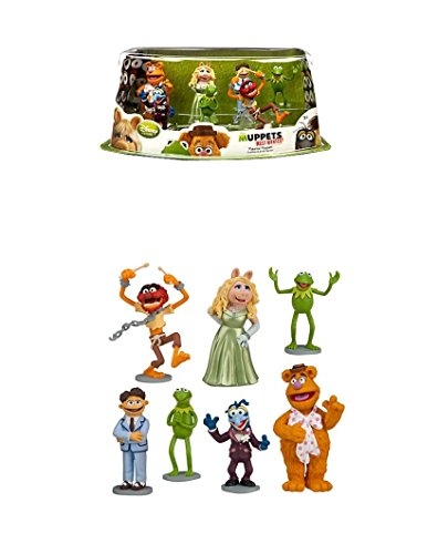 Disney Muppets Most Wanted Movie Exclusive 7-Piece PVC Figurine Playset [Kermit, Miss Piggy, Fozzie, Gonzo, Animal, Walter & Constantine] by The Muppets