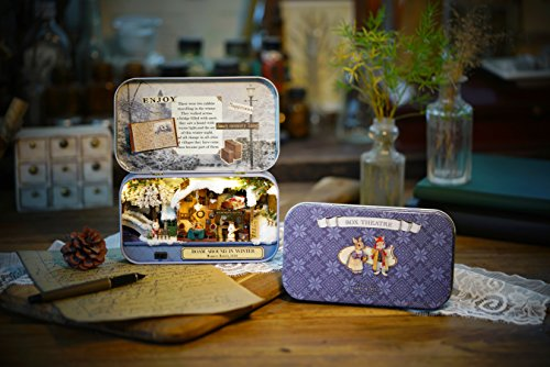 DIY En Bois Dollhouse miniature kit Cabane de neige Modèle jouet et couleur lumière avec meubles Show Pictures