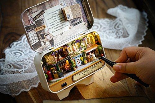 DIY En Bois Dollhouse miniature kit Street CONER Maison Modèle jouet et couleur lumière avec meubles Show Pictures