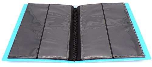 docsmagic.de Pro-Player 4-Pocket Album Light Blue - 160 Card Binder - MTG - PKM - YGO - Álbum para Tarjetas Azul Claro