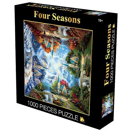 DSJDSFH Puzzle para Adultos 1000 Piezas De Gradiente Rainbow Round Puzzle Adultos Descompresión Creativa Juego De Juguete Decoración del Hogar