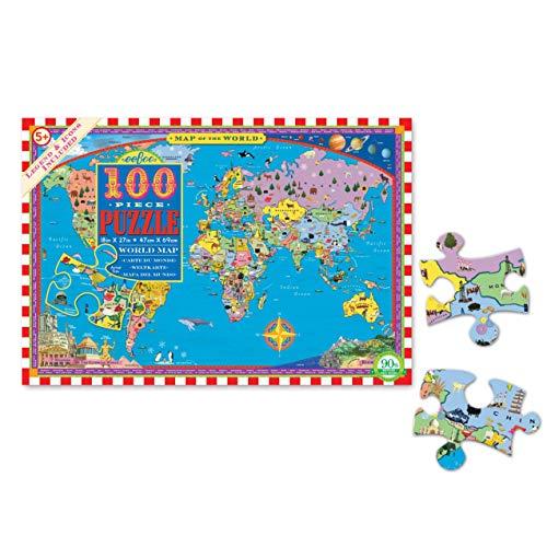 eeBoo- Puzzle, Mapa del Mundo (PZWR2)