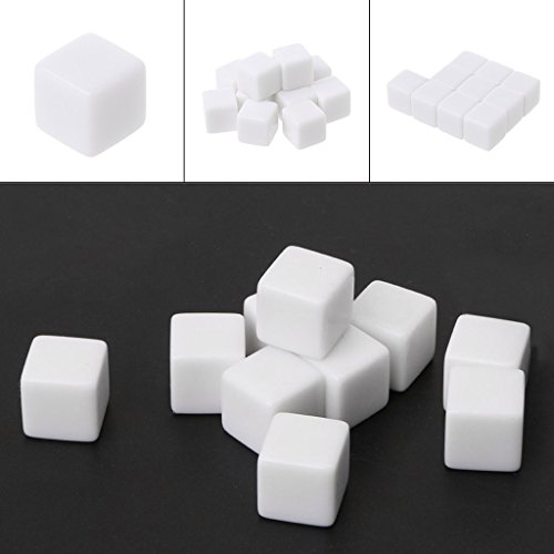 Exing Dados 6 Caras, 10 Piezas D6 Dados 12 Mm Die Six Sided Table Gaming Dice Blank para Juegos De rol