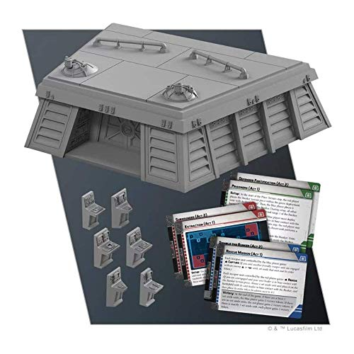 Fantasy Flight Games FFGSWL58 Star Wars Legion: Imperial Bunker Battlefield Expansion, Mixed Colours
