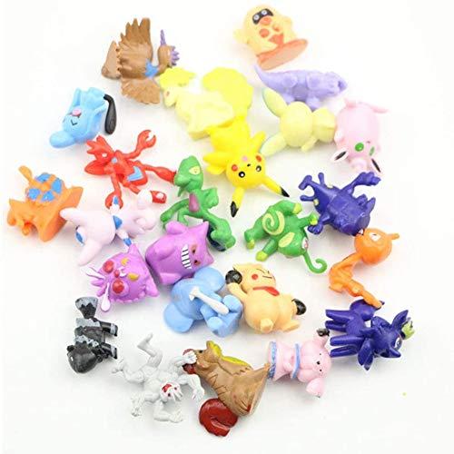 Funmo - Pokemon Figuras de acción 2 – 3 cm, Pokemon Pikachu Monstruo (72 Piezas)