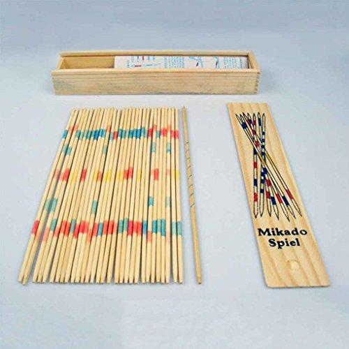Gankmachine El bebé Educativo de Madera recogen Palos Tradicionales Mikado Spiel con la Caja del Juego