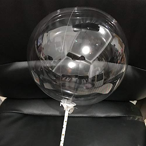 Globo de burbujas, 50 unidades, para cumpleaños, festivales, decoración transparente, inflable, sin arrugas, día de San Valentín, romántico, redondo, fiesta, boda 18 pulgadas As Picture Show