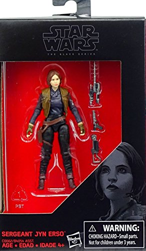 Hasbro Star Wars, 2016 The Black Series, Sergeant Jyn ERSO (Rogue One) Exclusive Action Figure, 3.75 Inches