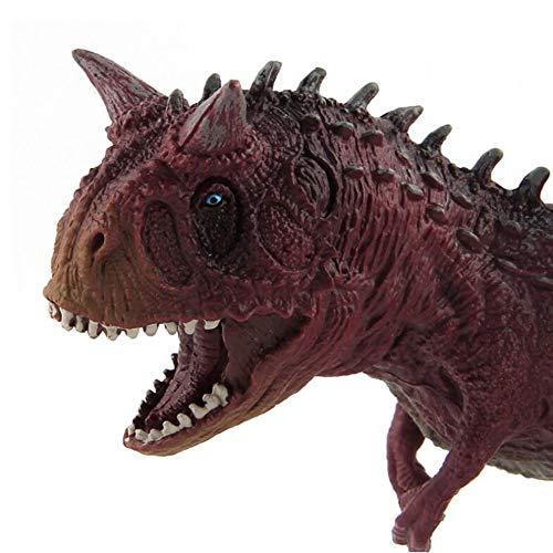 HFM Dinosaur Toys Jurassic Dinosaur World Carnotaurus Serie clásica Modelo de Dinosaurio para niños y niñas Festival de cumpleaños de Navidad Regalos de recompensa,B