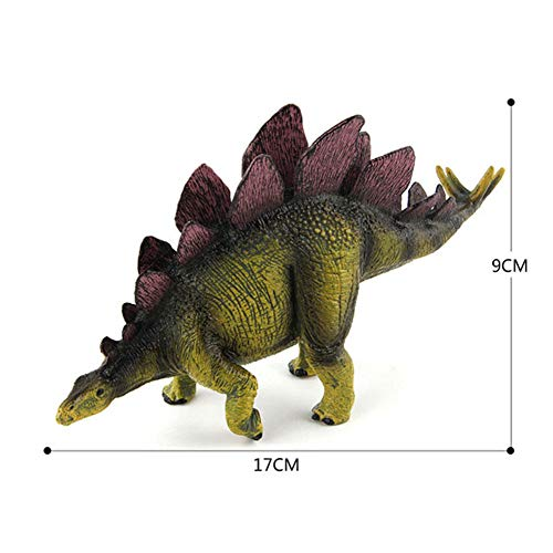 HFM Dinosaur Toys Jurassic Dinosaur World Stegosaurus Serie clásica Modelo de Dinosaurio para niños, niñas, cumpleaños, Navidad, Festival Regalos de recompensa,B