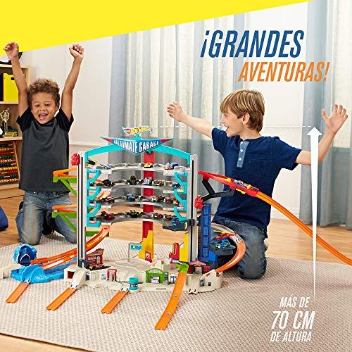 Hot Wheels Megagaraje, garaje para coches de juguete (Mattel CMP80)