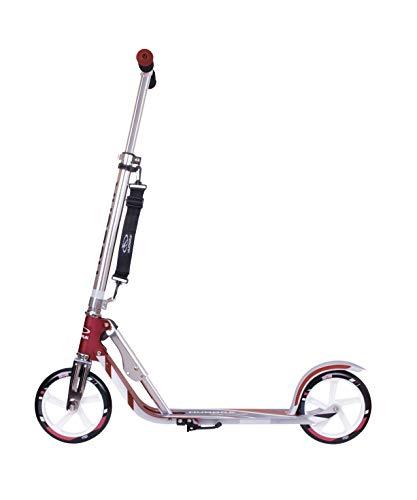 HUDORA 14764 BigWheel 205-Das Original con RX Pro Technologie-Tret-Roller klappbar-City-Scooter, Magenta / plata