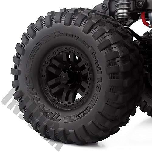 INJORA RC Rueda Nueces 4pcs Metal RC Car Wheel Nuts Cubo de Rueda M4 Nut para 1/10 RC Crawler Traxxas TRX4 Axial SCX10 90046 D90 Tamiya MST (Negro)