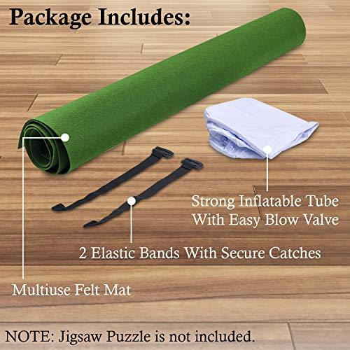 Jaques of London Puzzle Inflable Roll Upto 1500 Pcs - Tapete Puzzle con Paño Plegable - Rompecabezas Rompecabezas Roll Up con Material de Baize de Cierre Fácil ...