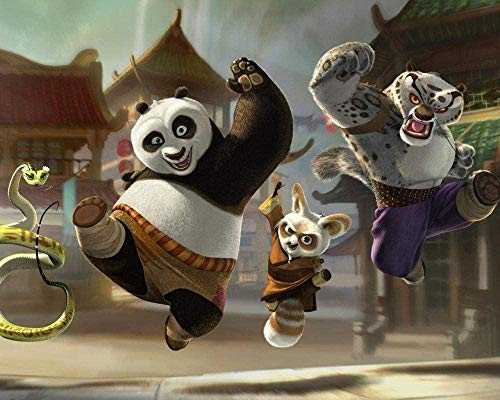 LDTSWES® Kung Fu Panda Puzzle Jigsaw 1000 Piezas Rompecabezas Juguetes educativos para niños Rompecabezas Regalo