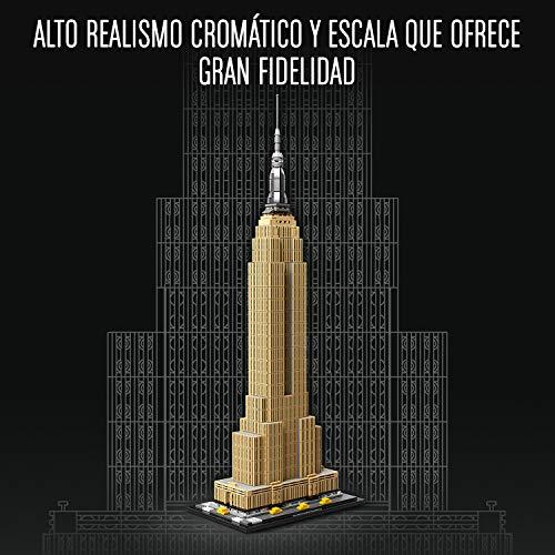 LEGO Architecture - Empire State Building Nuevo Juego de Construcción, Maqueta de Juguete de la Icónica Torre de New York (21046)