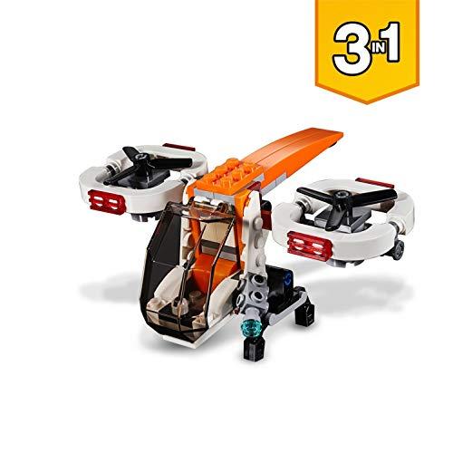 LEGO Creator - Dron de Exploración, Juguete de Construcción 3 en 1 con Piezas de Colores para Niños y Niñas de 6 a 12 Años con Diferentes Detalles (31071)
