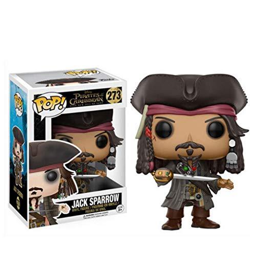 LLFX Pop Figuras Piratas del Caribe - Jack Sparrow Figura Juguetes Exclusivo de Cine muñeca Adornos de decoración Colección for Boys